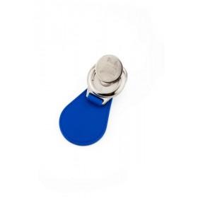 Porte clés porte jeton  verso avec le jeton pour caddie de la taille d' une pièce d' un euros