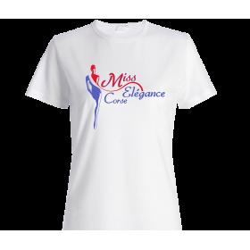 T-Shirt femme miss élégance corse