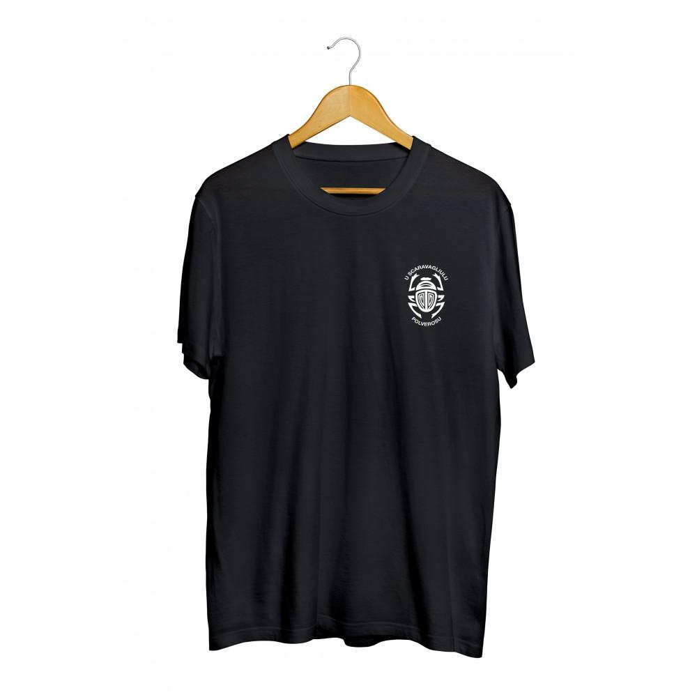 T-shirt noir de l'association U Scaravagliulu