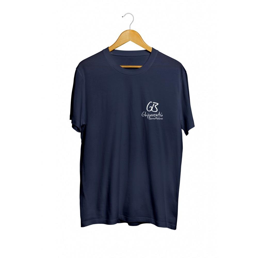 T-shirt bleu marine de l'association Ghjuventù Barrettalese