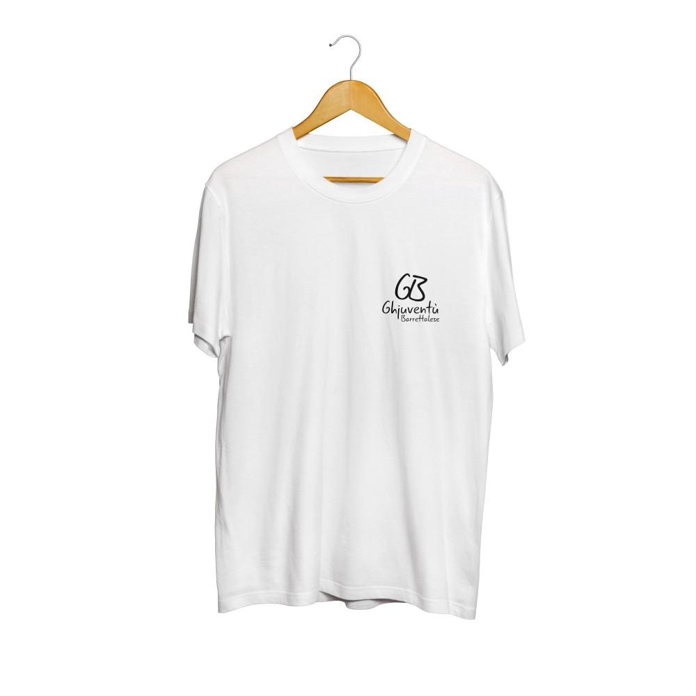 T-shirt blanc de l'association Ghjuventù Barrettalese